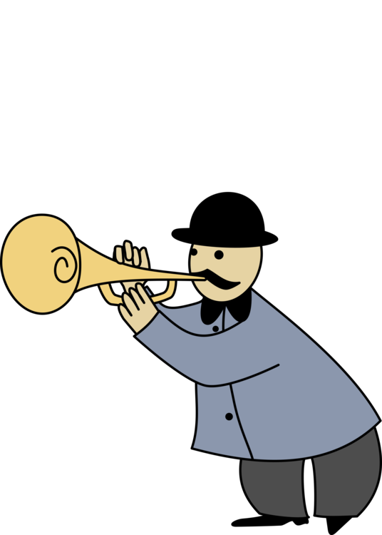 Flutes clipart orchestra. Trumpeter musical instruments free