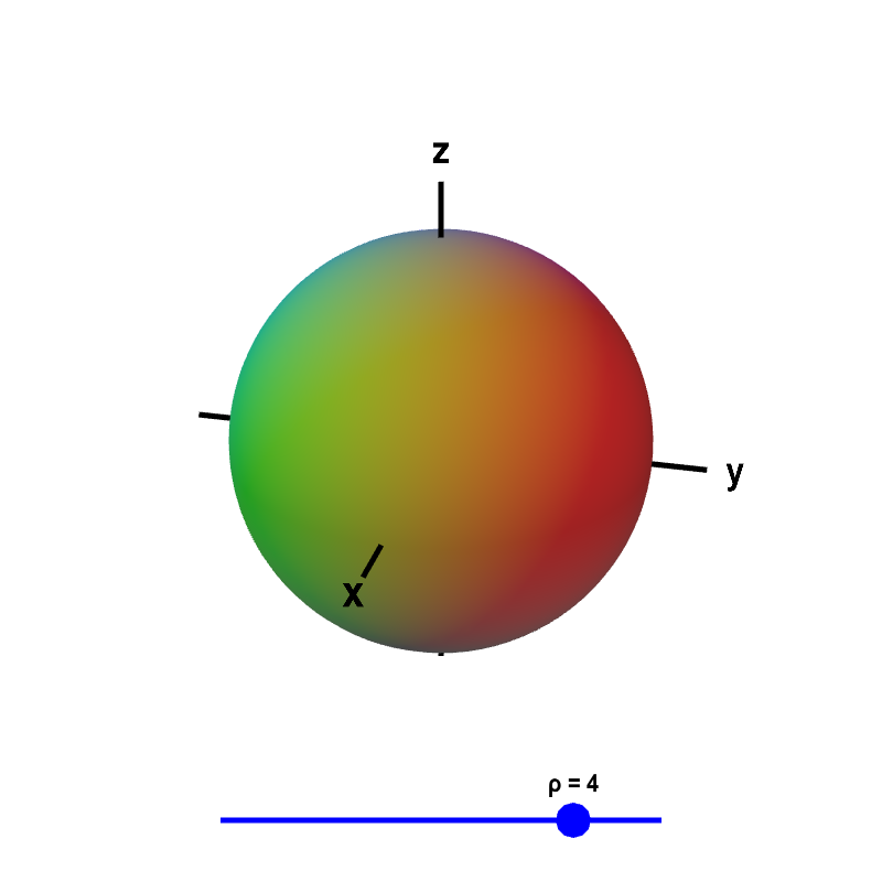 Flux vector sphere. Spherical coordinates math insight