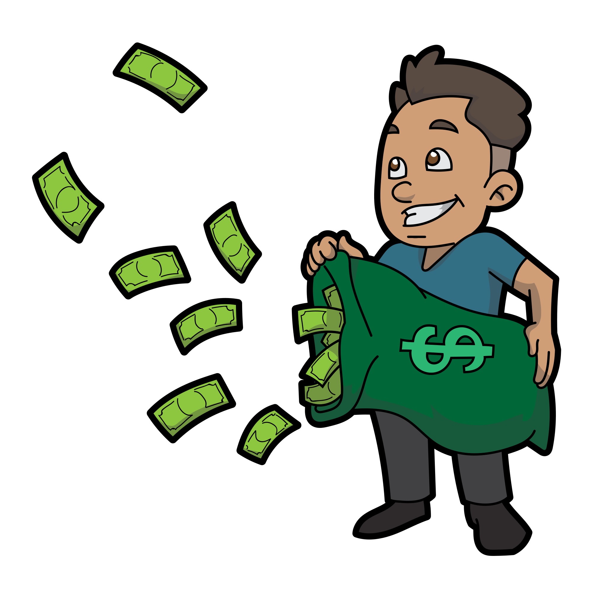 Fly cartoon png. File guy letting money