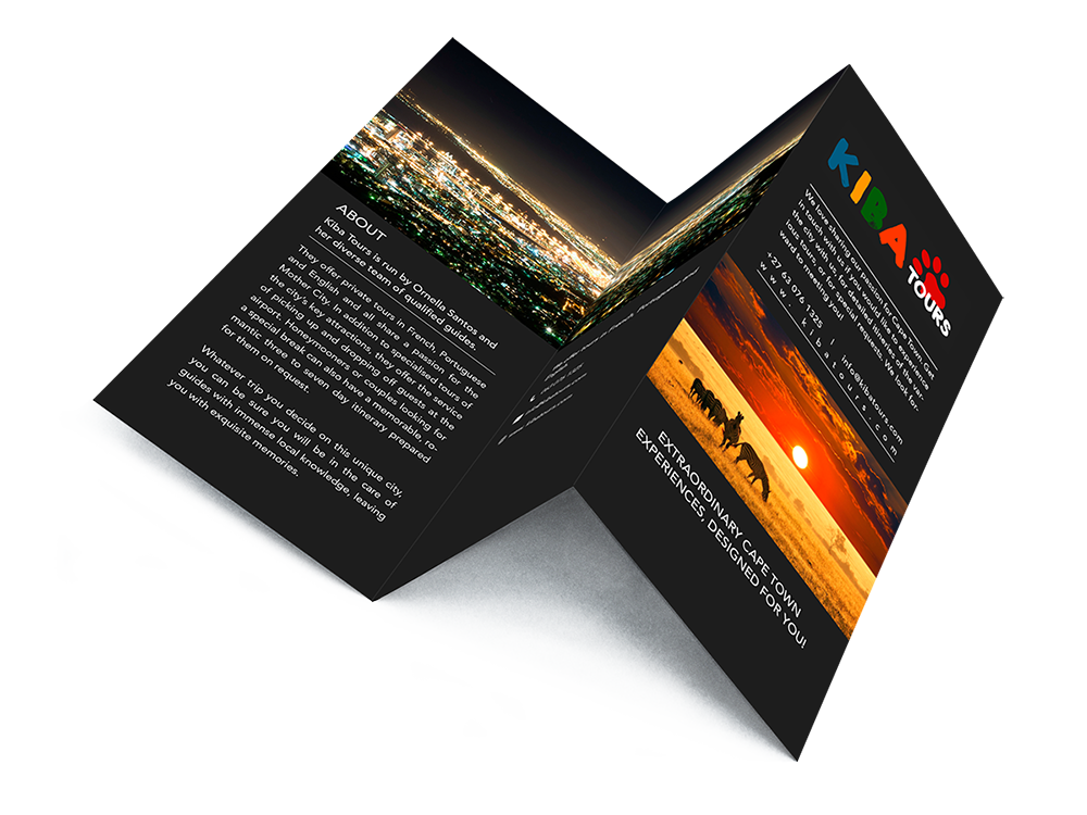 Brochure cape town b. Flyer design png svg black and white library