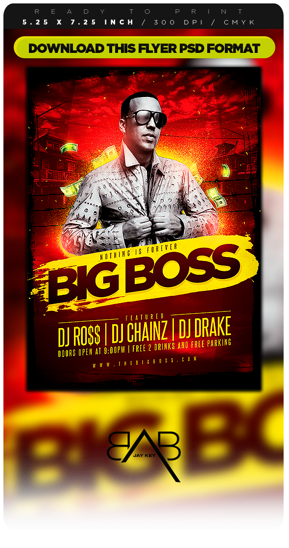 Flyer party png. Big boss by jaykey
