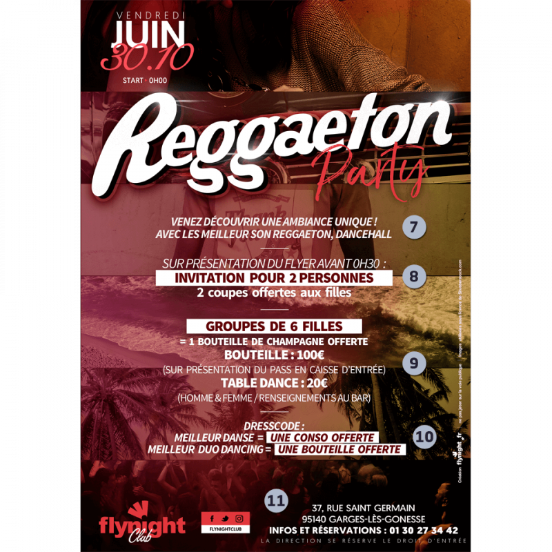 Flyer party png. Reggaeton move designed by