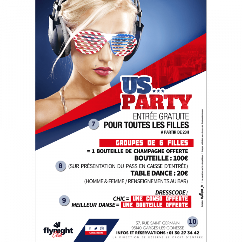 Flyer party png. Us yes sir designed