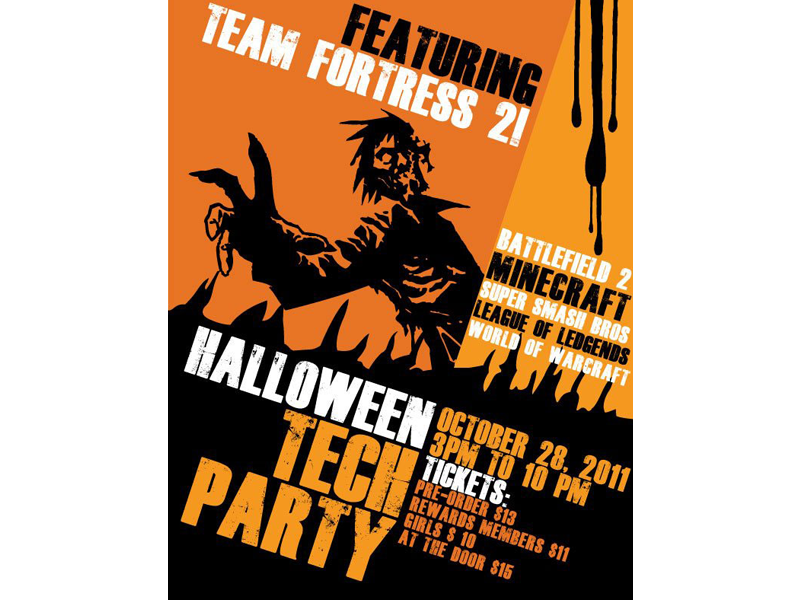Flyer party png. Tech by jamie lorenzetti