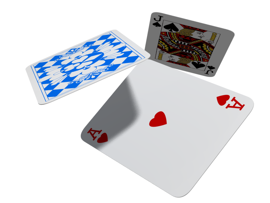 Flying cards png. Playing by milomax on