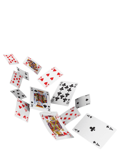 Flying cards png. European luxury theme casino