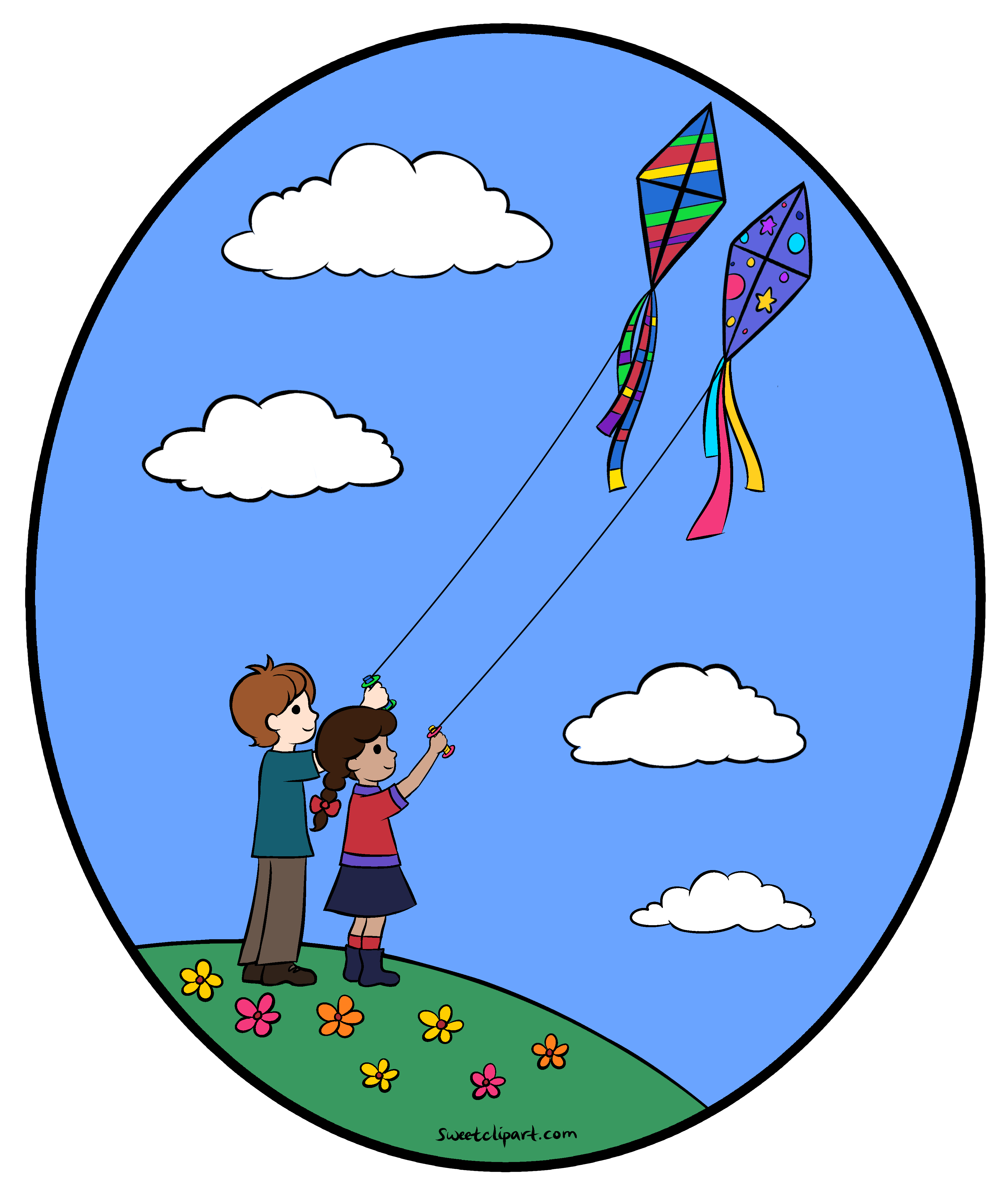 Rope clipart kite. Flying kites color clip