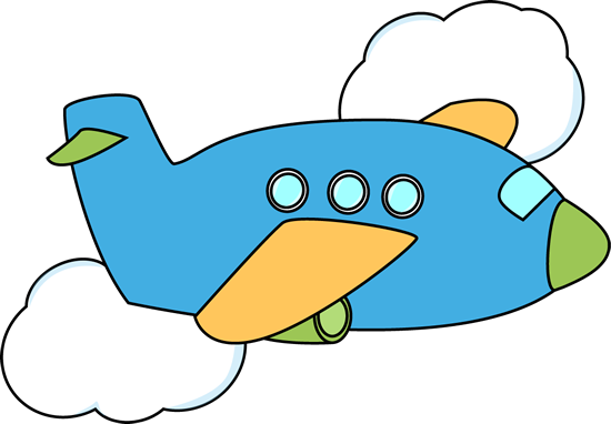 Jet clipart plane route. Cute airplane flying through
