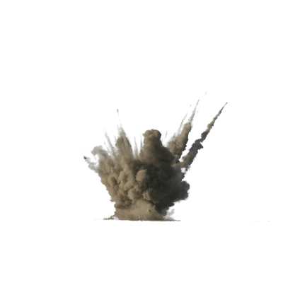 Flying dirt png. Explosion transparent stickpng