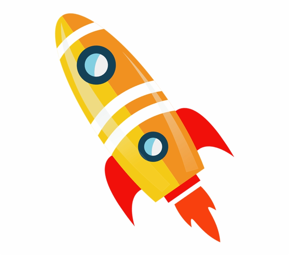 Flying rocket. Drawing rockets toy cartoon