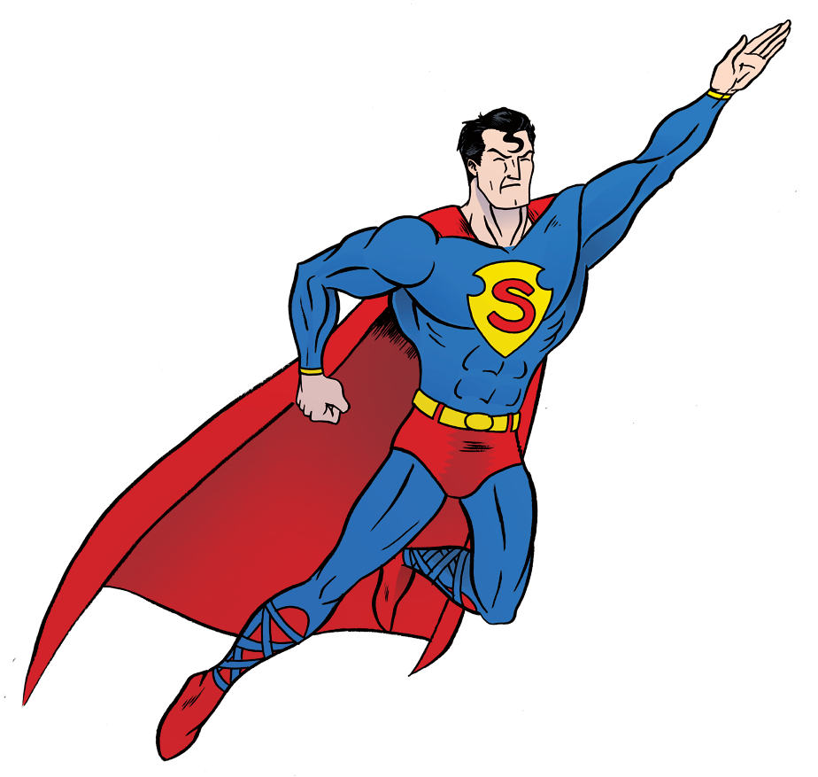 superman clip transparent