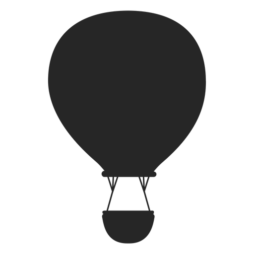 Hot vector file. Flying air balloon silhouette