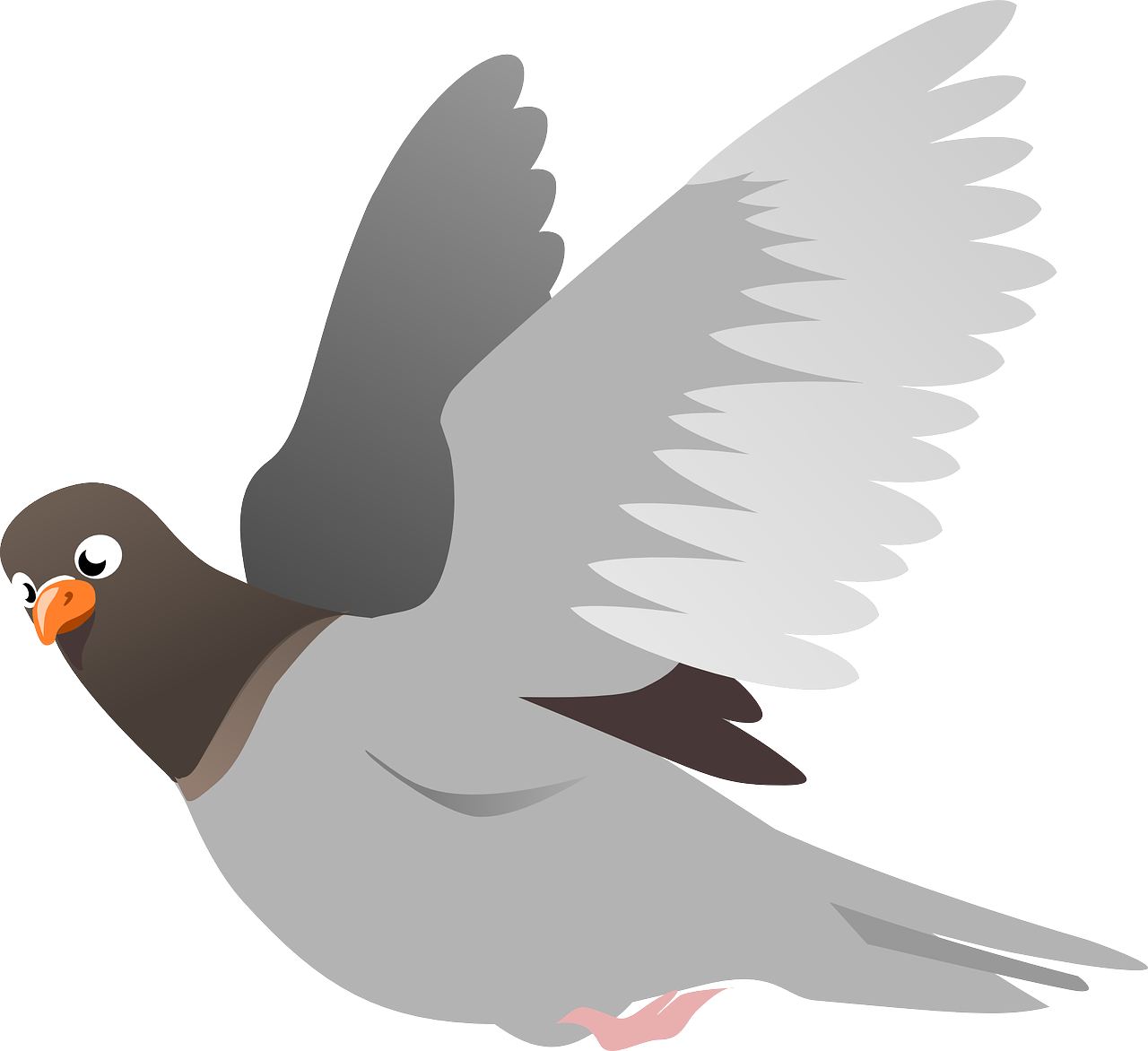 Vector doves in flight. Free image on pixabay