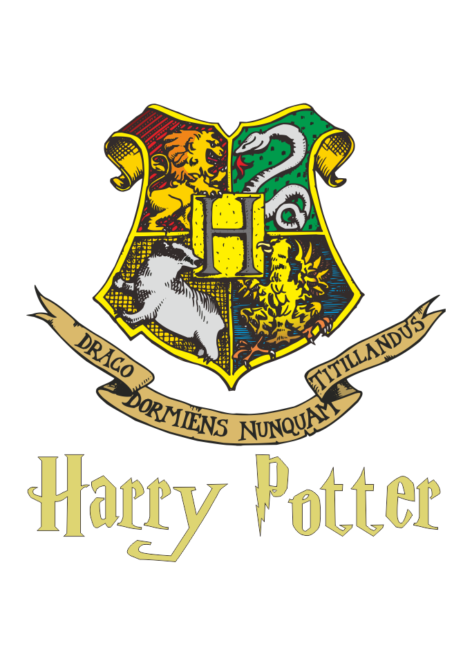 Logo hogwarts harry potter. Vectorial drawing image transparent download