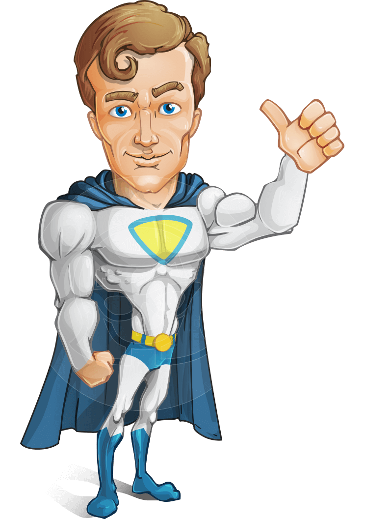 Shopping transparent cartoon person. Vector hero male character
