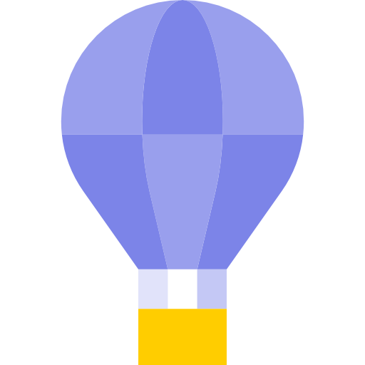 Flying vector hot air. Balloon icon page png
