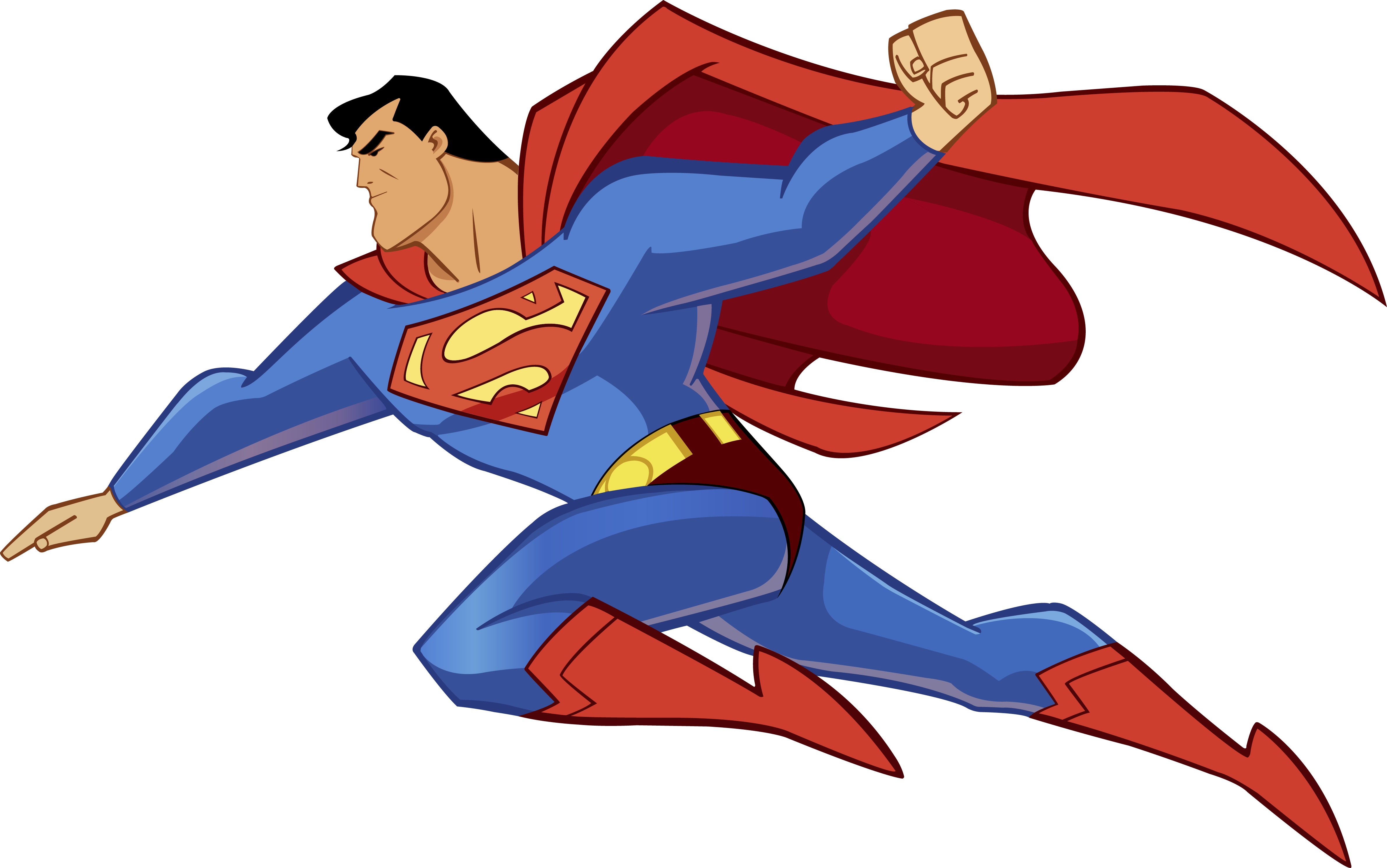 Flying vector superhero. A project for my
