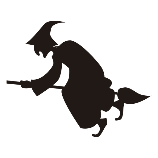 Halloween png witch. Silhouette flying transparent svg
