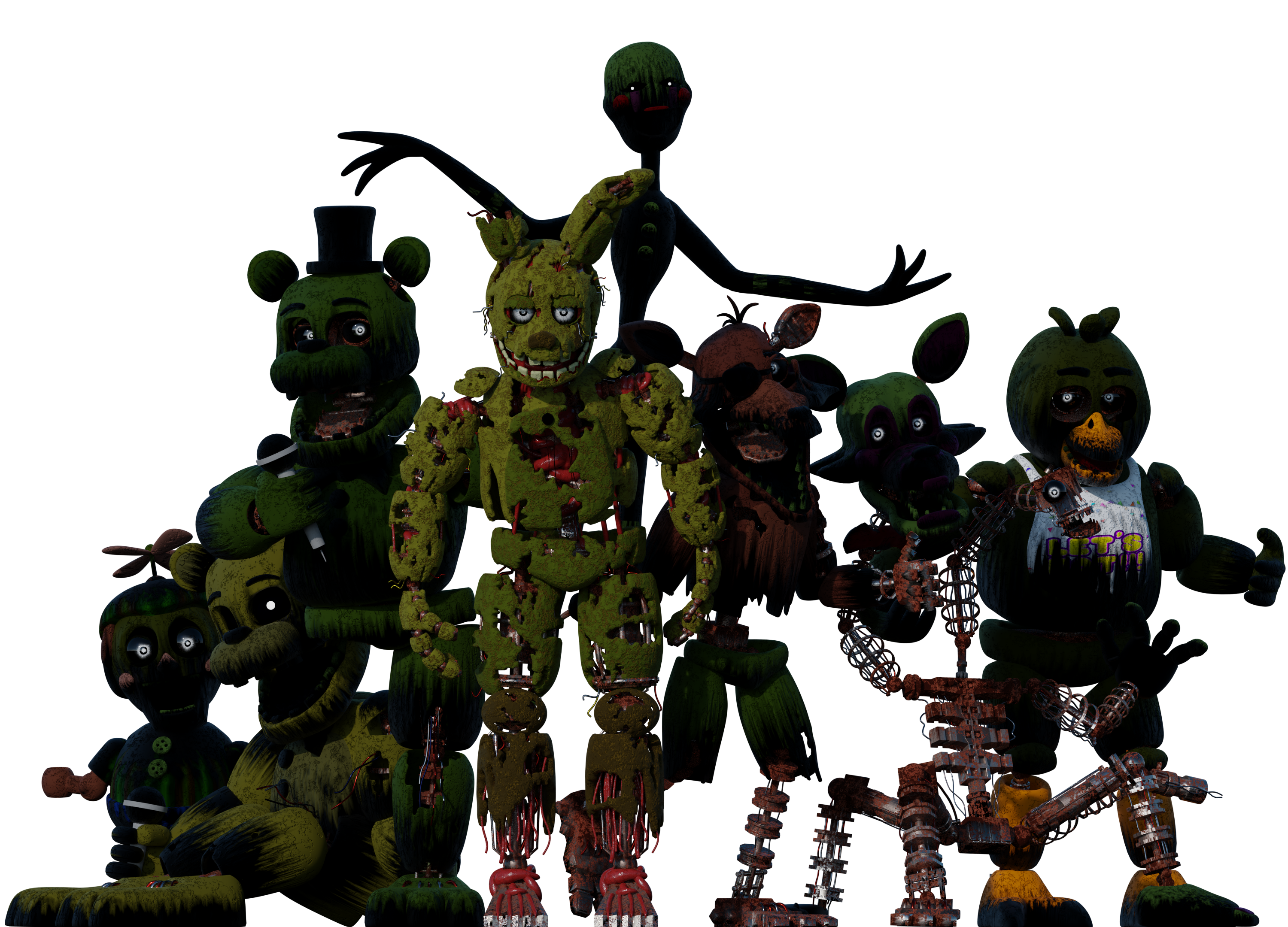 Fnaf 3 png. William afton and the