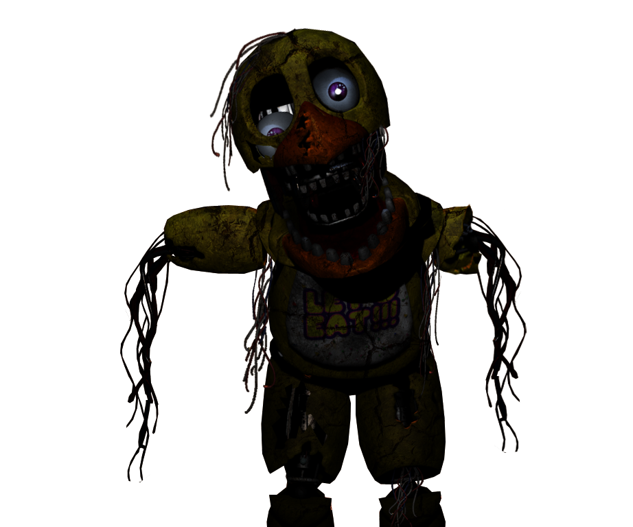 Fnaf 4 chica png. Withered by fazboggle five