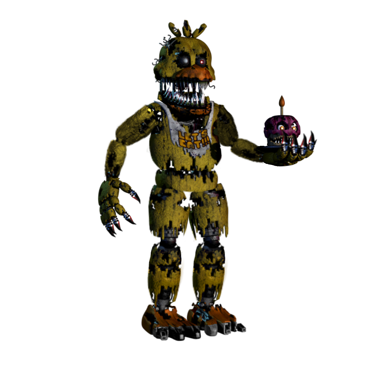 Fnaf 4 chica png. Image nightmare unwithered five