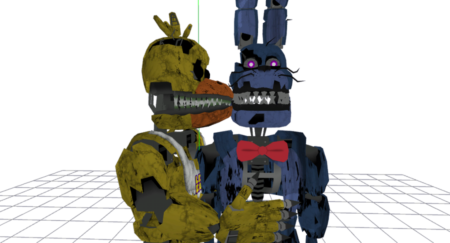 Fnaf 4 chica png. Mmd nightmare bonnie x