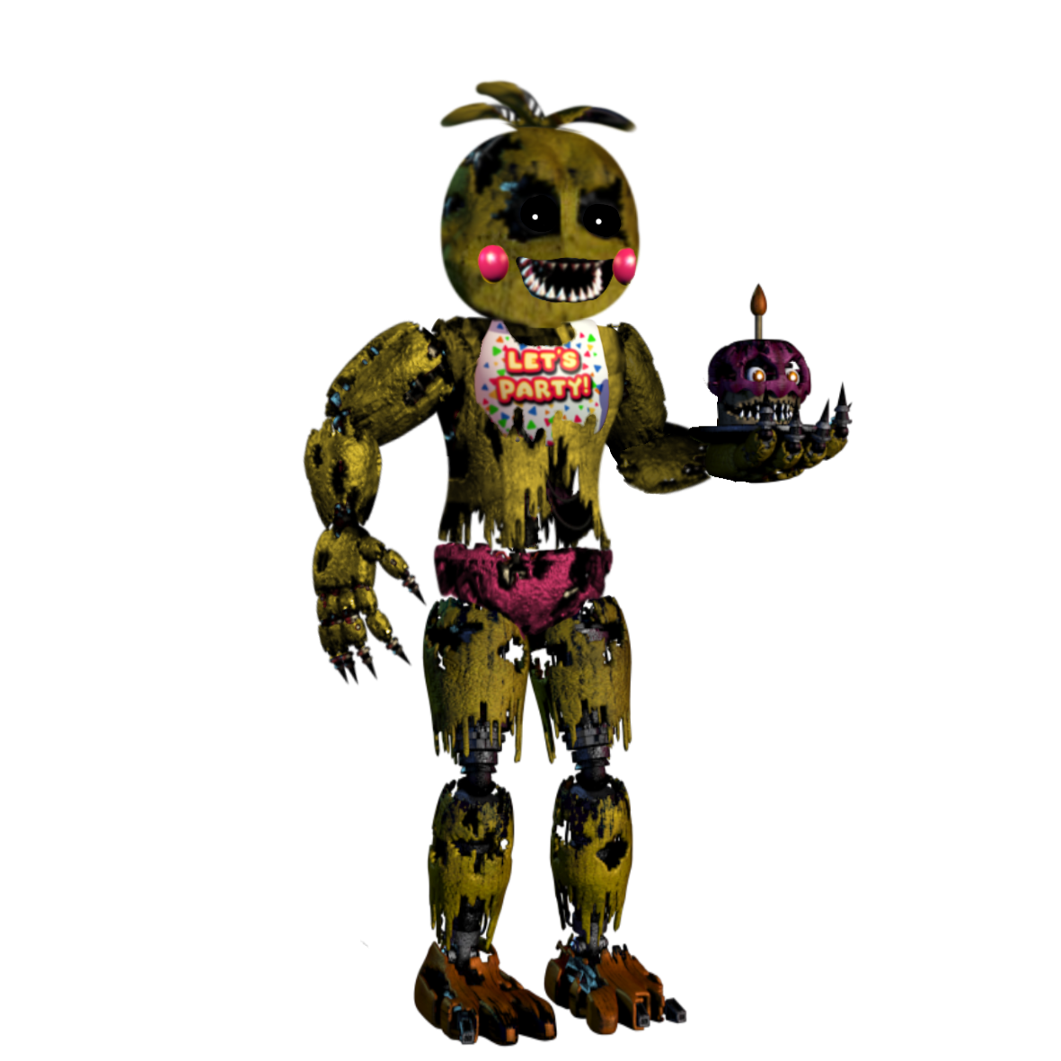 Fnaf 4 chica png. Image nightmare toy without