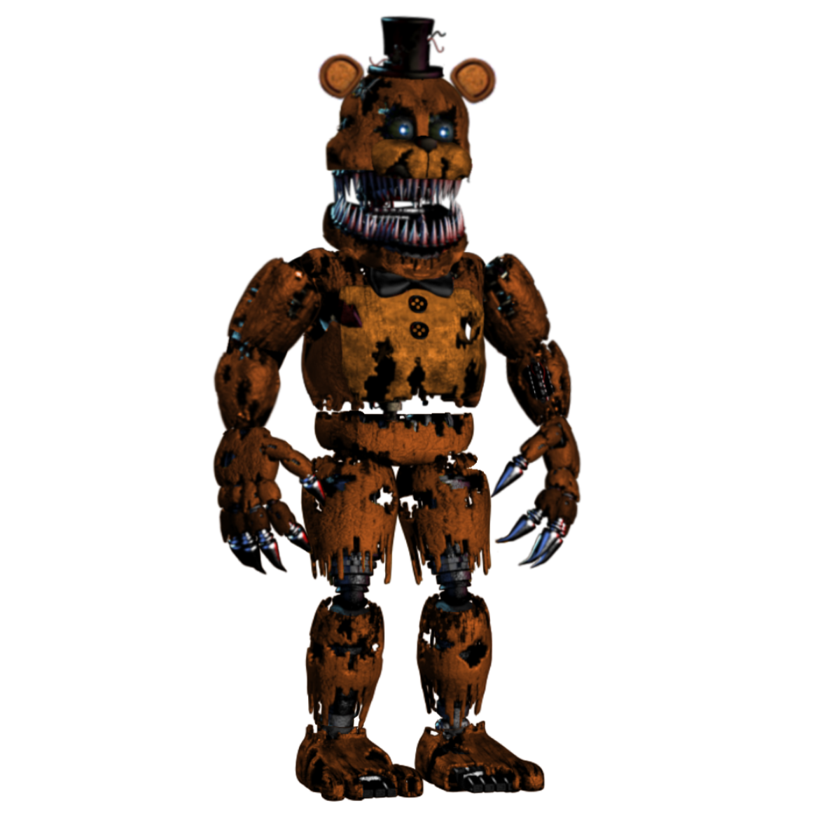 Fnaf 4 freddy png. Image nightmare withered five