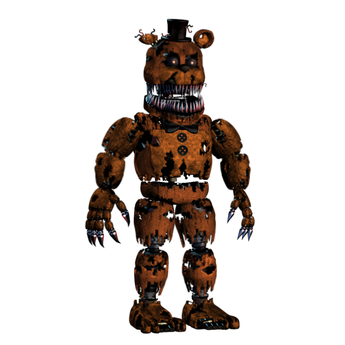 Fnaf 4 freddy png. Image nightmare unwithered five