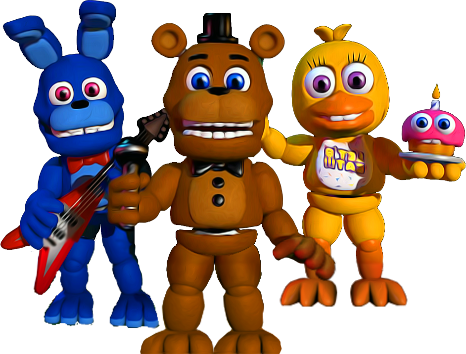 Fnaf world png. Full bodys by yinyanggio