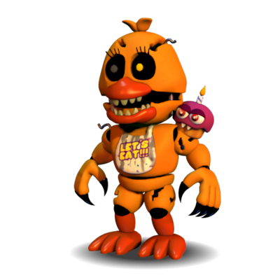 Fnaf world png. Extras nightmare chica by