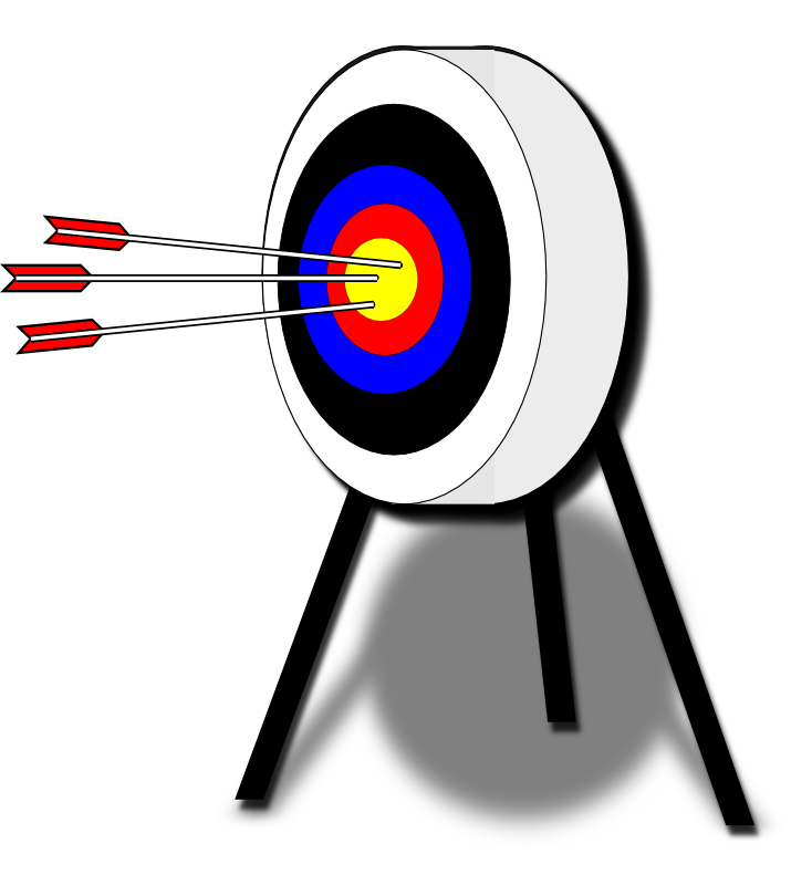 Archery clipart athletics game. Free target pictures download