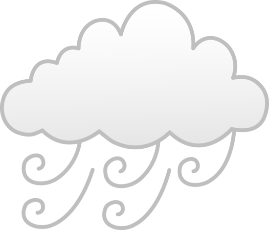 Windy clipart. Or foggy weather free