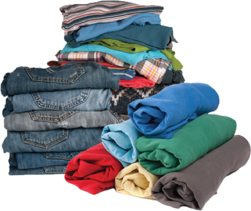 Folded clothes png. How it works got