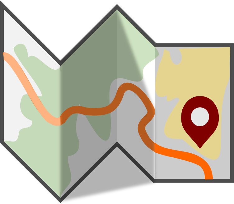 Folded map png. Clipart medium image