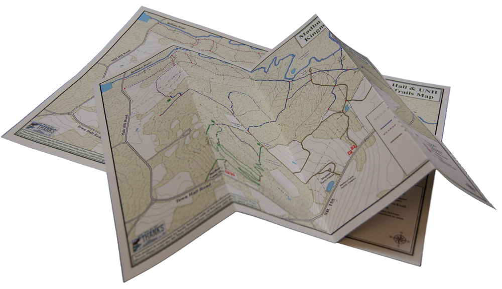 Folded map png. Tridura durable paper water