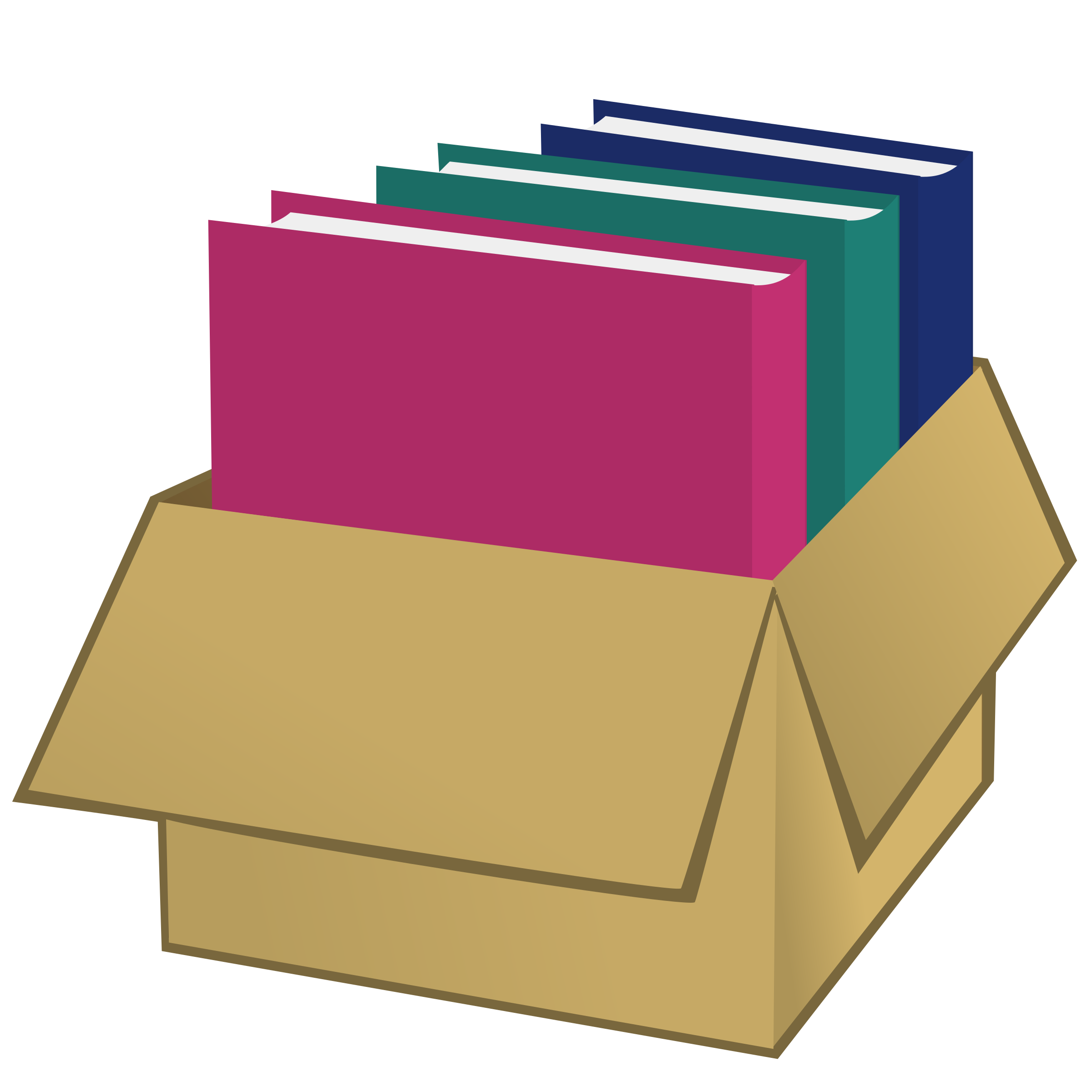 Folder clipart box book. With folders big image