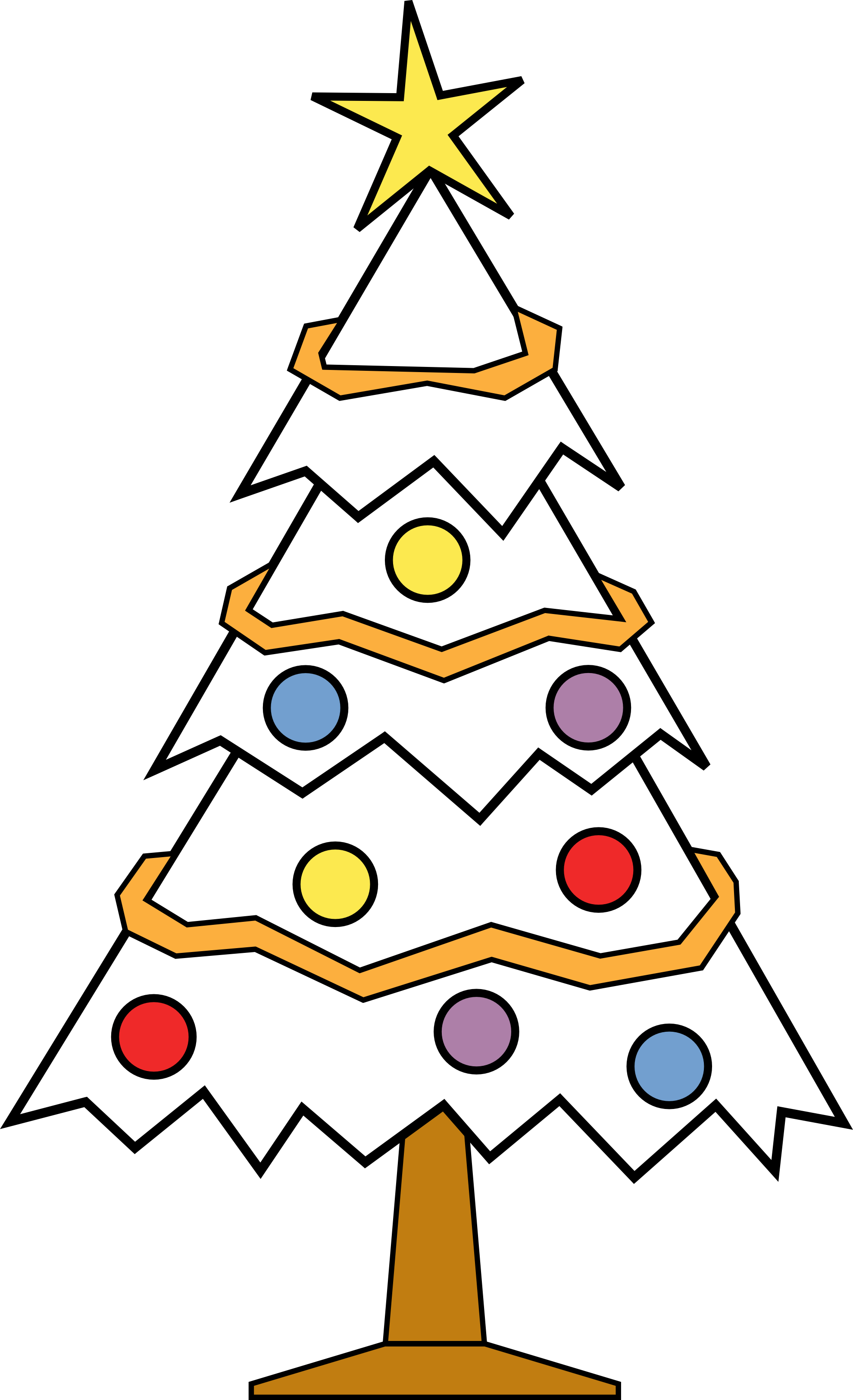 Christmas Tree Clipart Black And White.Drawing Present Christmas Tree Transparent Png Clipart