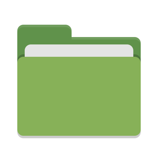 Folder label png. Green icon papirus places