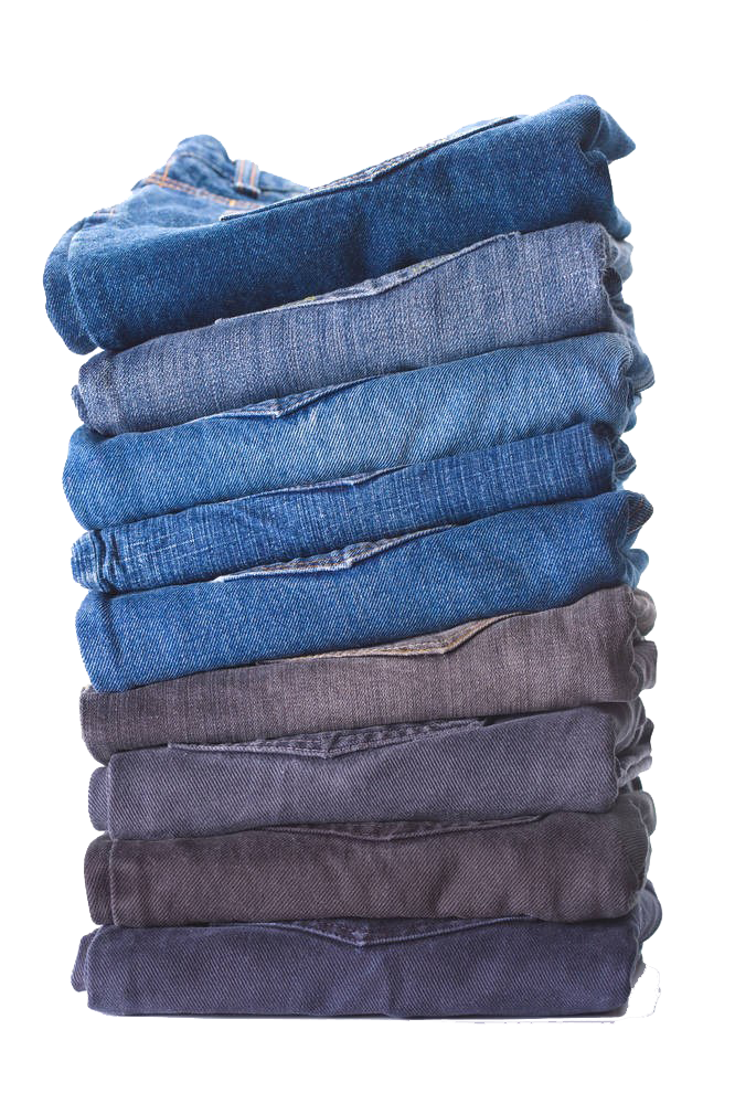 Folding clothes png. Jeans denim clothing trousers