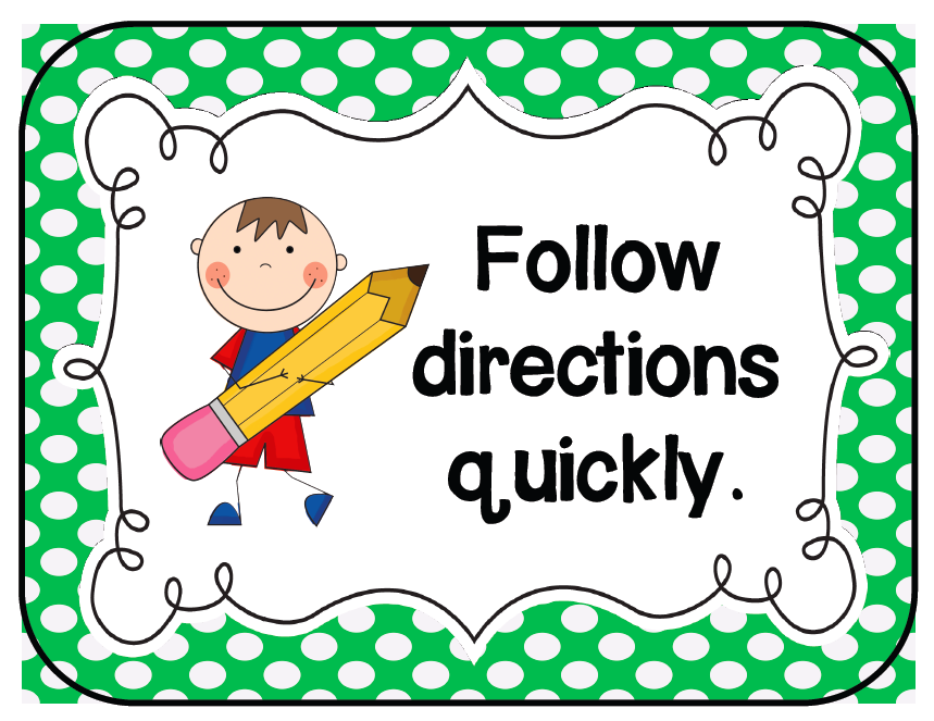 Follow directions clipart. Free cliparts download clip