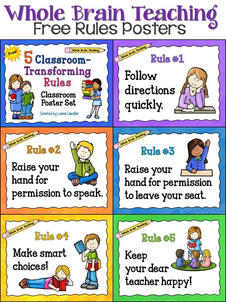 Rules clipart taught. Free whole brain teaching