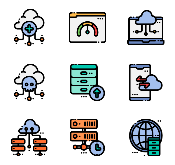 Cloud icons free vector