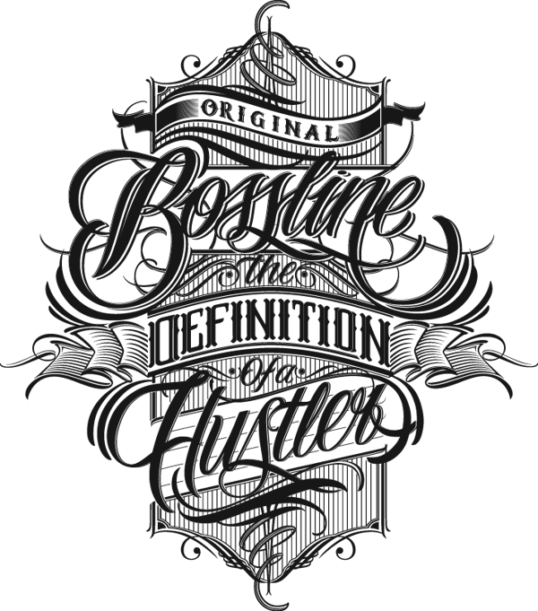 Fonts drawing clothing. Bossline by mateusz witczak