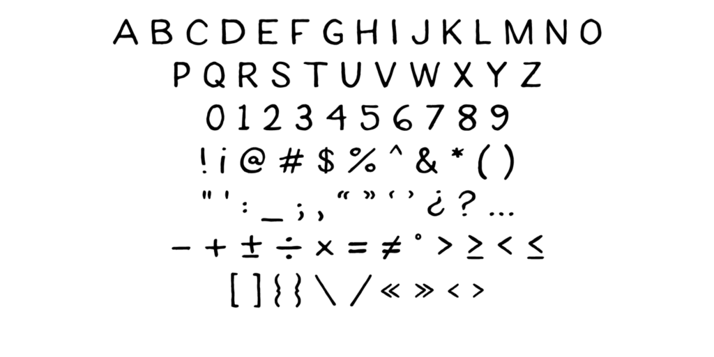 Fonts drawing unique. How to make awesome