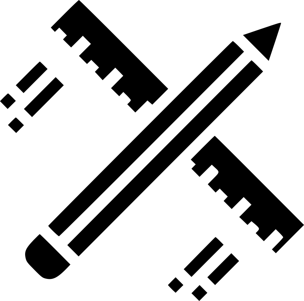 Fonts drawing pencil. Ruler design flying architecture