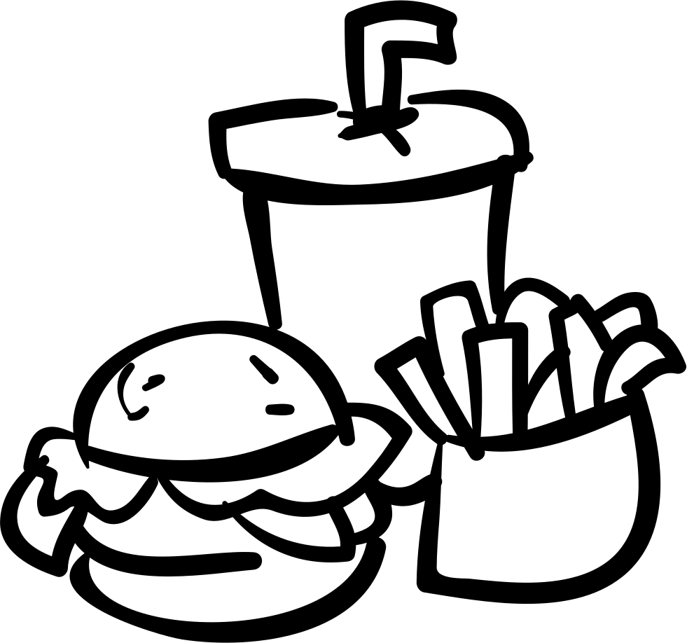 Fries vector fast food. Burger drink and svg