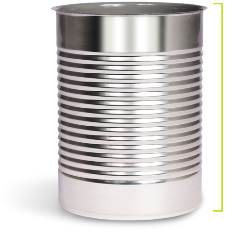 Drawing items metal. Food cans container steel