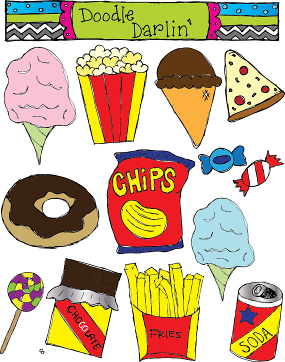 Food clipart junk food.