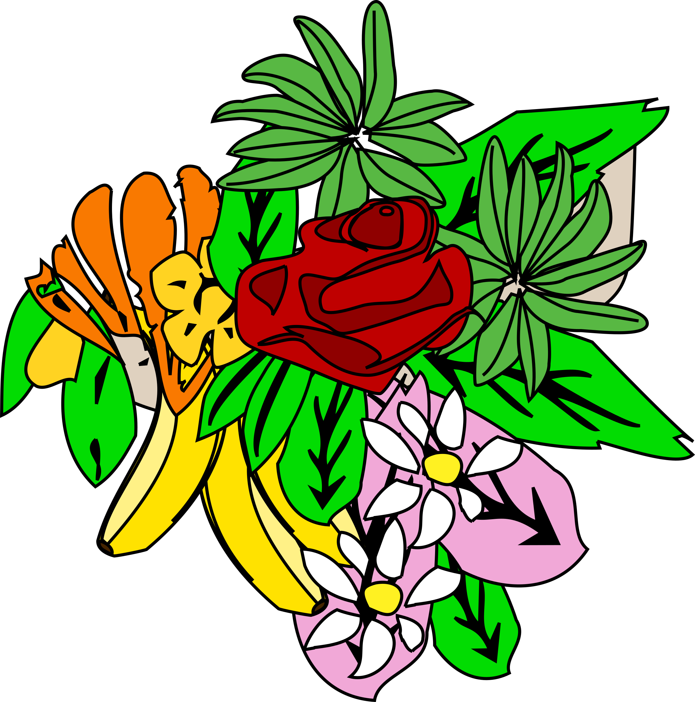Food clipart plant. And flower design big